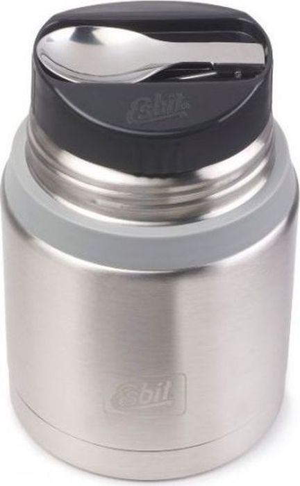 Термос для еды Esbit FJSP, c ложкой, цвет: стальной, серый, 750 млFJ750SP-BSНовый стальной термос для еды с двойными стенками. Просто открыв крышку, которую можно использовать как тарелку, наслаждайтесь горячими блюдами. В комплект входит компактная стальная ложка, крепится внутри в специальное отверстие во внутренней пробке. Термос сохраняет блюда холодными/горячими длительное время. Благодаря широкому горлу его легко мыть. Особенности: высококачественная нержавеющая сталь;прочный;в комплект входит компактная стальная ложка;стальную крышку с двойными стенками можно использовать как тарелку (310 мл);сохраняет пищу холодной/горячей длительное время;благодаря широкому горлу удобно паковать блюдо, есть и легко мыть термос. Характеристики: При температуре 98°C и температуре окружающей среды 20°C ± 2°С температура: через 6 ч: 70°C;через 12 ч: 60°C;через 24 ч: 40°C.Технические характеристики: Материал: нержавеющая стальРазмер: 165 х 109 ммВес: 548 гОбъем: 750 мл