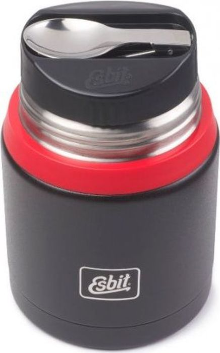 Термос для еды Esbit FJSP, c ложкой, цвет: черный, красный, 0,75 лFJ750SP-BRНовый стальной термос для еды с двойными стенками. Просто открыв крышку, которую можно использовать как тарелку, наслаждайтесь горячими блюдами. В комплект входит компактная стальная ложка, крепится внутри в специальное отверстие во внутренней пробке. Термос сохраняет блюда холодными / горячими длительное время. Благодаря широкому горлу его легко мыть. Особенности: высококачественная нержавеющая стальпрочныйв комплект входит компактная стальная ложкастальную крышку с двойными стенками можно использовать как тарелку (310 мл)сохраняет пищу холодной / горячей длительное времяблагодаря широкому горлу удобно паковать блюдо, есть и легко мыть термос Характеристики: При температуре 98°C и температуре окружающей среды 20°C ± 2°С температура: через 6 ч: 70°Cчерез 12 ч: 60°Cчерез 24 ч: 40°CТехнические характеристики: Материал: нержавеющая стальРазмер: 165 х 109 ммВес: 548 гОбъем: 750 мл