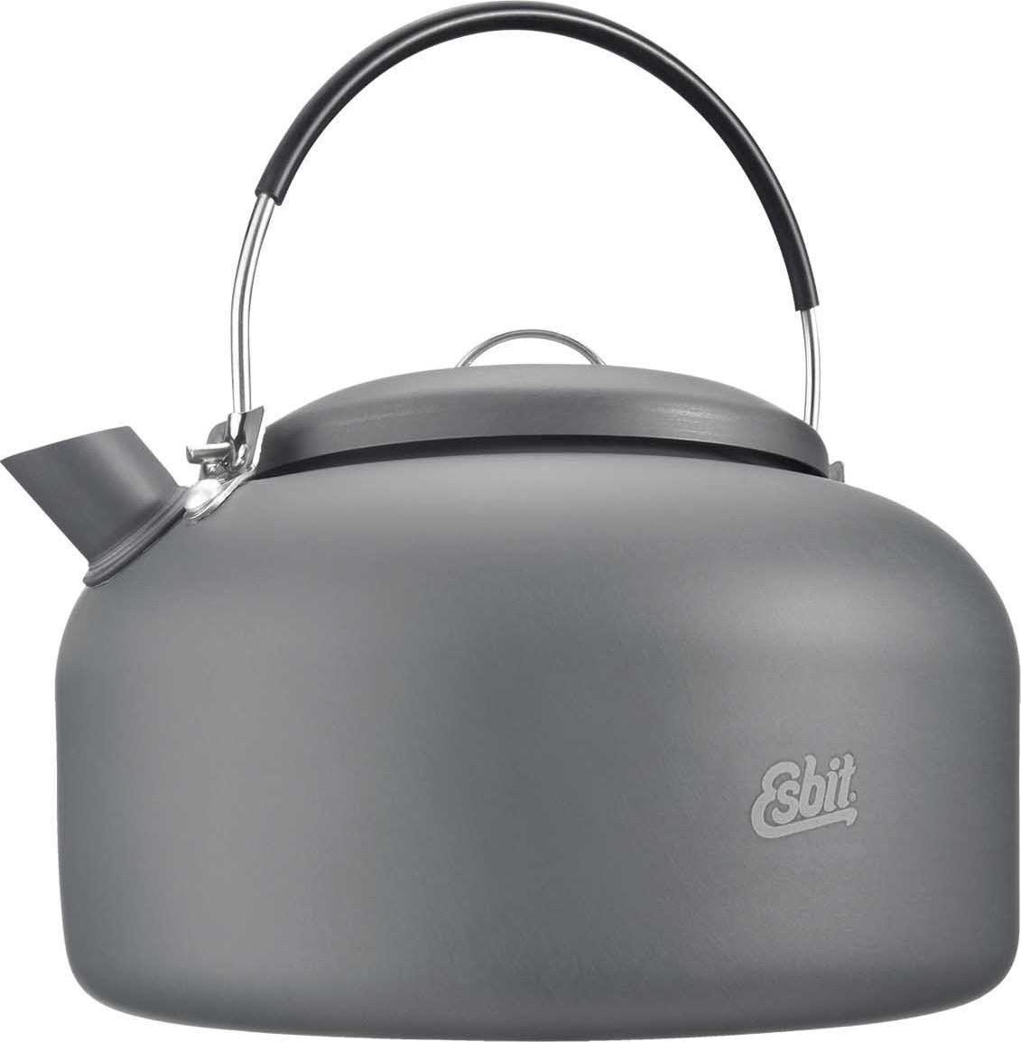 Чайник Esbit, 600 млWK600HAЛегкий туристический чайник из прочного анодированного алюминия с крышкой и удобной складной ручкой. Подходит к набору для приготовленияпищи Esbit.