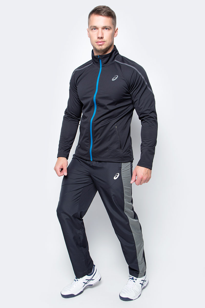 Куртка мужская Asics Softshell Jacket, цвет: черный. 146589-8154. Размер S (46)146589-8154В куртке Asics Softshell Jacket из ветронепроницаемой и водоотталкивающей ткани вы сможете бегать в любую погоду. Прочный материал, устойчивый к воздействию ветра и воды, на спине дополнен эластичными трикотажными вставками, что делает движения более свободными. Также имеется два надежных кармана на молнии для телефона и ключей. Приток воздуха можно регулировать основной полноразмерной молнией со специальной вставкой для защиты подбородка от натирания. Светоотражающий логотип ASICS.