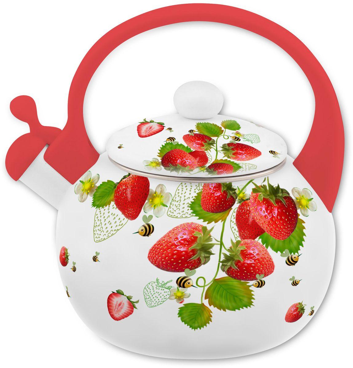 Чайник Appetite Верано, со свистком, цвет: белый, красный, 2 л26817-1Чайник Appetite Верано изготовлен из высококачественной углеродистой стали с эмалированным покрытием.Гигиеничен и устойчив к износу при длительном использовании. Гладкая и ровная поверхностьсущественно облегчает уход за посудой. Энергосберегающая технология позволяет быстро распределять идолгое время сохранять тепло. Благодаря высококачественным материалам, при кипячении чайник сохраняет всеполезные свойства воды.Корпус чайника имеет элегантное покрытие с ягодным рисунком. Носик чайника оснащен откидным свистком,звуковой сигнал которого подскажет, когда закипит вода. Это освободит вас от непрерывного наблюдения зачайником. Свисток приподнимается с помощью специального механизма на ручке чайника. Эргономичная ручкавыполнена из термопластика. Объем: 2 л.