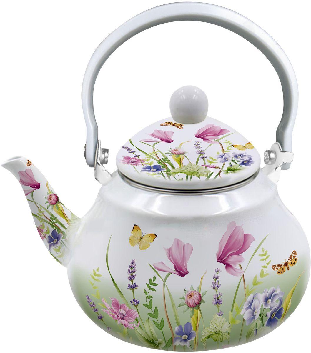 """Заварочный чайник Appetite """"Примавера"""" изготовлен из  высококачественной эмалированной стали и декорирован ярким летним рисунком. Чайник имеет  стальное ситечко и оснащен  удобной пластиковой ручкой. Крышка плотно закрывается, а удобный носик  предотвращает проливание жидкости. Чайник прекрасно  подойдет для заваривания чая и травяных напитков.  Подходит для использования на всех плитах, включая индукционные. Можно мыть в  посудомоечной машине. Высота чайника (без учета крышки): 10 см. Высота чайника (с учетом крышки): 21 см.  Диаметр (по верхнему краю): 9,5 см. Высота фильтра: 9,5 х 9,5 х 6 см."""