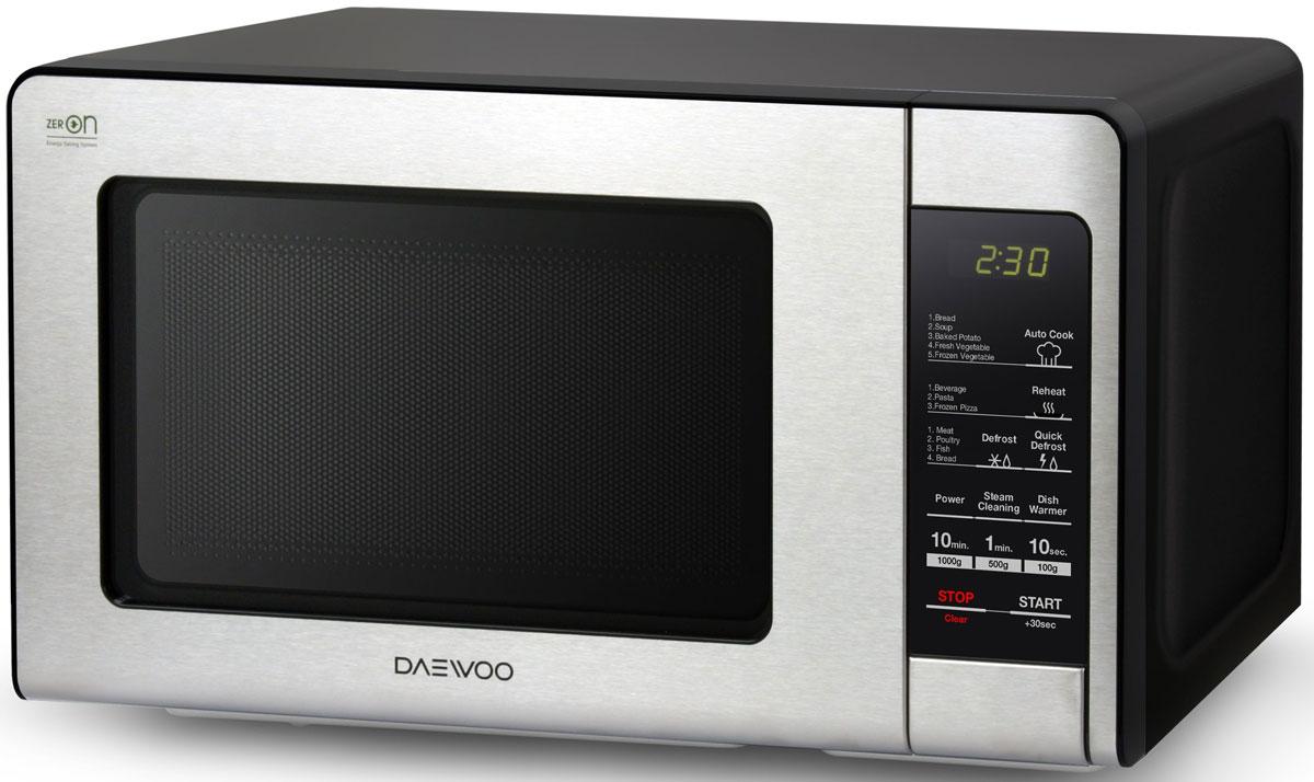 Daewoo KOR-664K, Black Silver СВЧ-печь lg mb65w95gih white свч печь с грилем