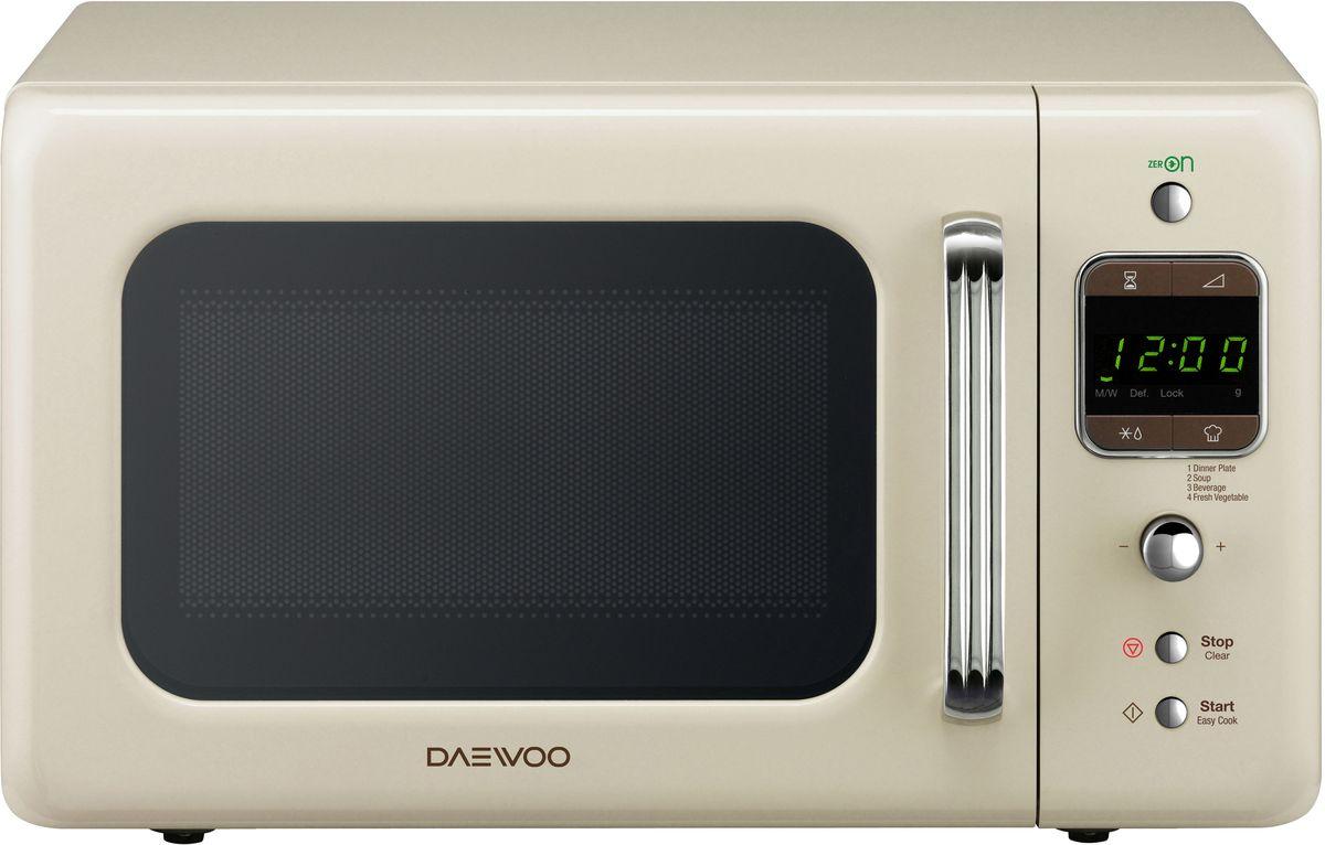 Daewoo KOR-6LBRC, Ivory СВЧ-печьKOR-6LBRCМикроволновая печь Daewoo KOR-6LBRC с электронным типом управления, объемом 20 литров, с выходной мощностью 800 Вт оснащена системой вогнутых отражателей C.R.S, благодаря чему ваши блюда будут приготовлены равномерно. К тому же, в модели имеются 4 программы автоприготовления, разморозка по времени и весу, таймер. Изящная модель из линейки микроволновых печей в стиле ретро будет стильным помощником по хозяйству!
