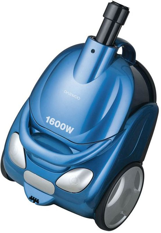 Daewoo RCC-154SA, Blue пылесосRCC-154SAПылесос циклонного типа Daewoo RCC-154SA с потребляемой мощностью 1600 Вт и мощностью всасывания 210 Вт поможет справиться с пылью и обеспечит чистоту вашего дома. На корпусе расположена кнопка включения и кнопка для автоматического сматывания шнура питания. Контейнер для сбора пыли выполнен из прозрачного пластика, что позволяет следить за его заполненностью. Для удобной переноски предусмотрена ручка.