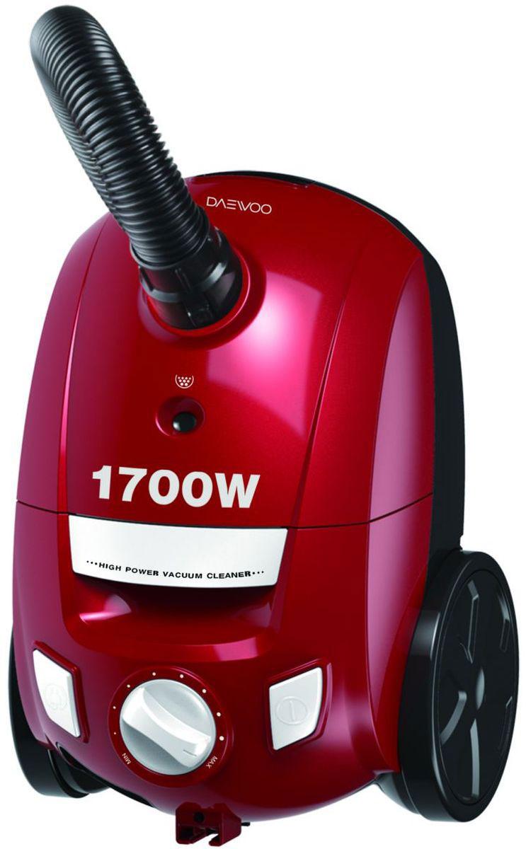 Daewoo RGJ-210R, Red пылесосRGJ-210RМешковый пылесос Daewoo RGJ-210R с потребляемой мощностью 1700 Вт и мощностью всасывания 230 Вт оснащен HEPA-фильтром, который рассчитан на фильтрацию даже самых небольших частиц, он защитит от пыли и обеспечит чистоту вашего дома. На корпусе расположена кнопка включения и кнопка для автоматического сматывания шнура питания. Мощность можно регулировать при помощи поворотного переключателя.