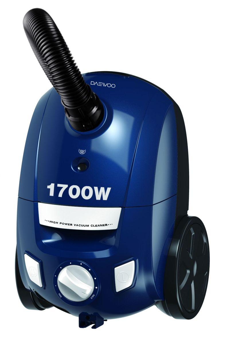 Daewoo RGJ-210S, Blue пылесосRGJ-210SМешковый пылесос Daewoo RGJ-210S с потребляемой мощностью 1700 Вт и мощностью всасывания 230 Вт оснащен HEPA-фильтром, который рассчитан на фильтрацию даже самых небольших частиц, он защитит от пыли и обеспечит чистоту вашего дома. На корпусе расположена кнопка включения и кнопка для автоматического сматывания шнура питания. Мощность можно регулировать при помощи поворотного переключателя.