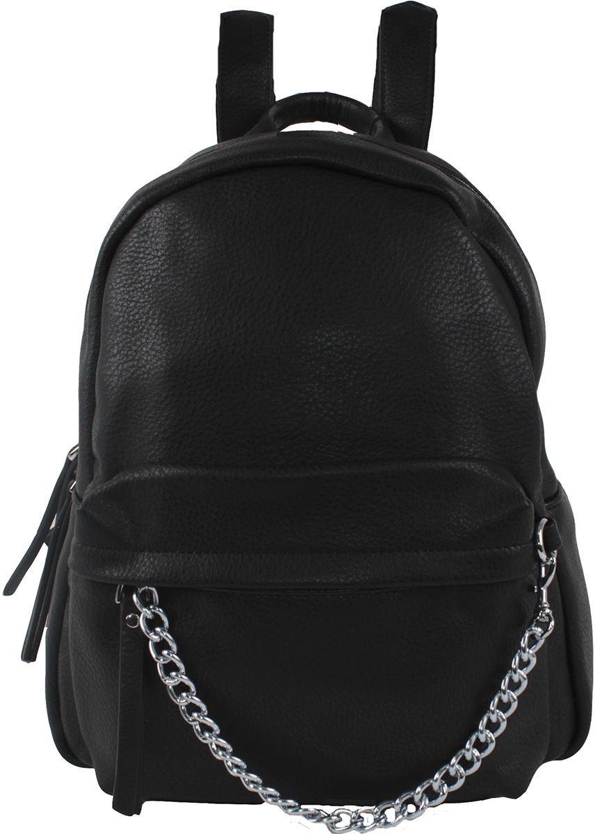 Сумка-рюкзак женская Flioraj, цвет: черный. 637 black