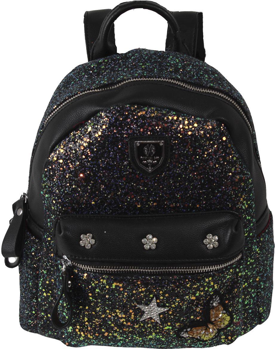 Сумка-рюкзак женская Flioraj, цвет: черный. 8193-1 black