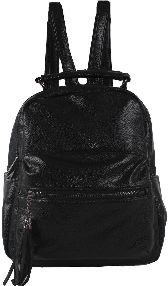 Сумка-рюкзак женская Flioraj, цвет: черный. 801-892-1605/101