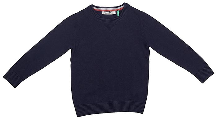 Джемпер для мальчика Sela, цвет: темно-синий. JR-714/177-7341. Размер 110JR-714/177-7341Джемпер для мальчика от Sela выполнен из натуральной хлопковой пряжи. Модель с длинными рукавами и круглым вырезом горловины.