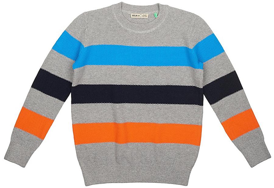 Джемпер для мальчика Sela, цвет: серый. JR-814/090-7331. Размер 152 цена