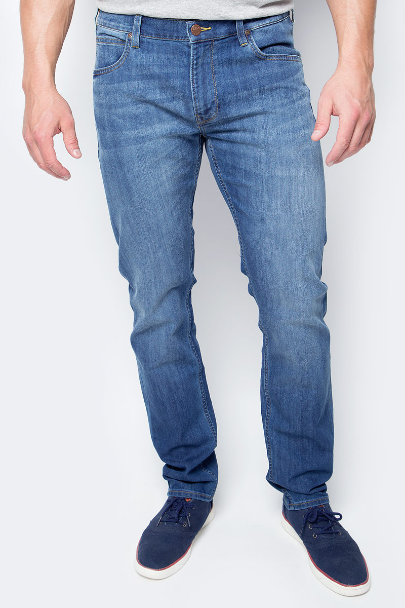 Джинсы мужские Lee Daren Zip Fly, цвет: светло-синий. L707ACDK. Размер 38-36 (54-36) zip fly ripped denim cropped pants for men