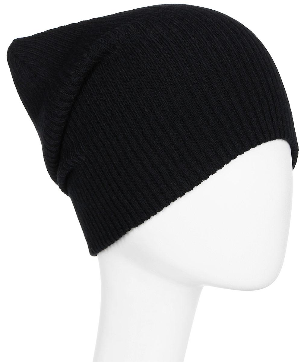 Шапка Asics Training Essential Beanie, цвет: черный. 146817-0904. Размер 56/58146817-0904Демисезонная шапка