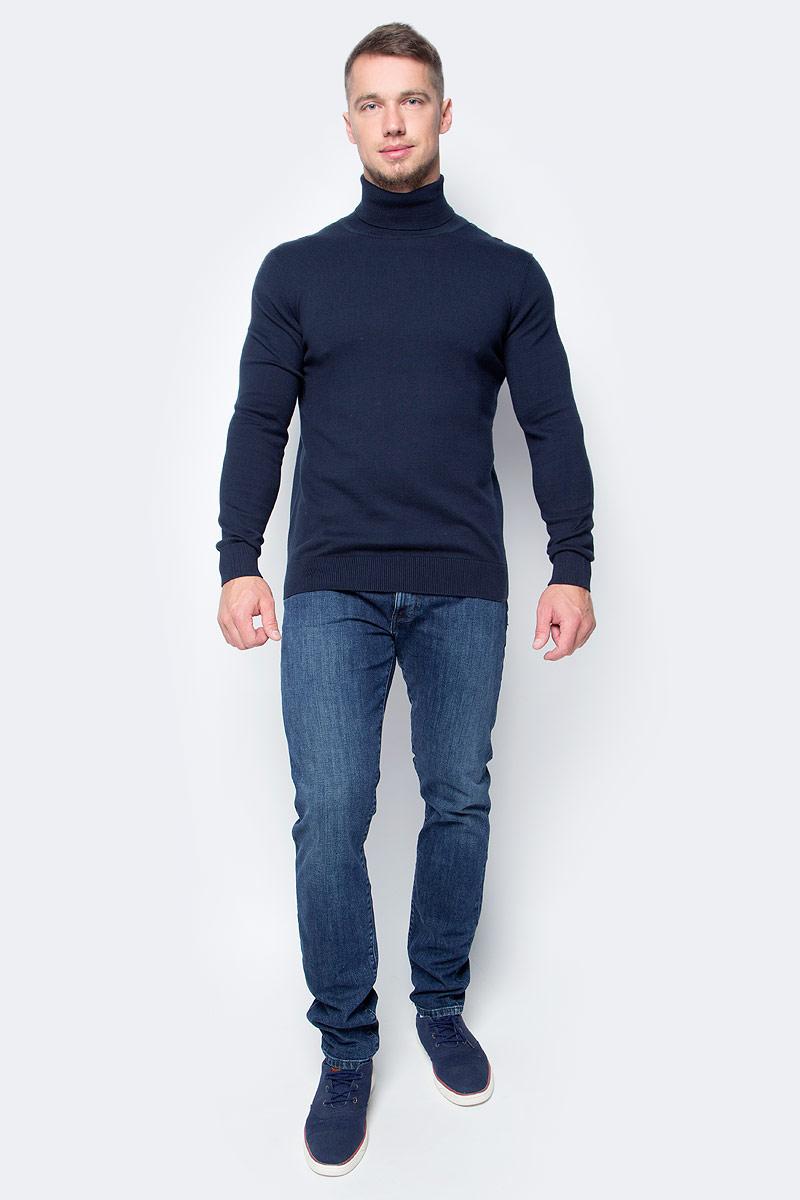 Водолазка мужская Baon, цвет: темно-синий. B727701_Deep Navy. Размер XL (52)B727701_Deep NavyПозаботьтесь о своем тепле и комфорте - выберите качественную модель, призванную защитить вас от мороза и ветра. Водолазка от Baon, изготовленная из трикотажа с добавлением натуральной шерсти, создана специально для холодной погоды. Эта базовая модель превосходно сочетается как с классикой, так и с повседневной одеждой, позволяя вам выглядеть и чувствовать себя на все сто!