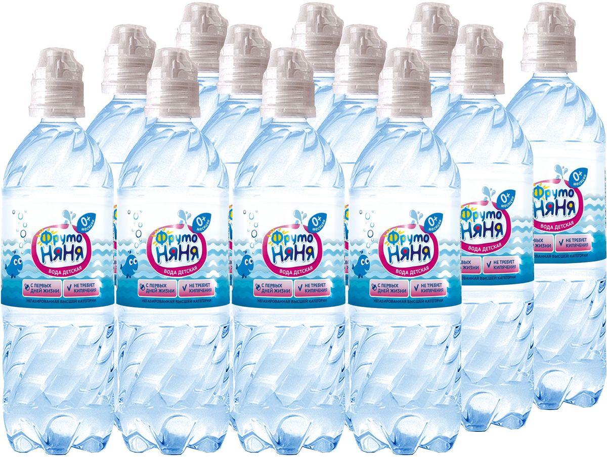 ФрутоНяня водаартезианская питьевая негазированная, 12 штук по 0,33 л