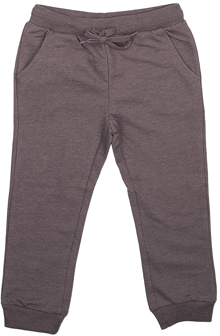 Брюки спортивные для мальчика Sela, цвет: коричневый. Pk-715/106-7341. Размер 98Pk-715/106-7341Спортивные брюки для мальчика от Sela выполнены из хлопкового трикотажа. Модель на талии дополнена широкой эластичной резинкой со шнурком. Брючины имеют широкие трикотажные манжеты. По бокам брюки дополнены втачными карманами.