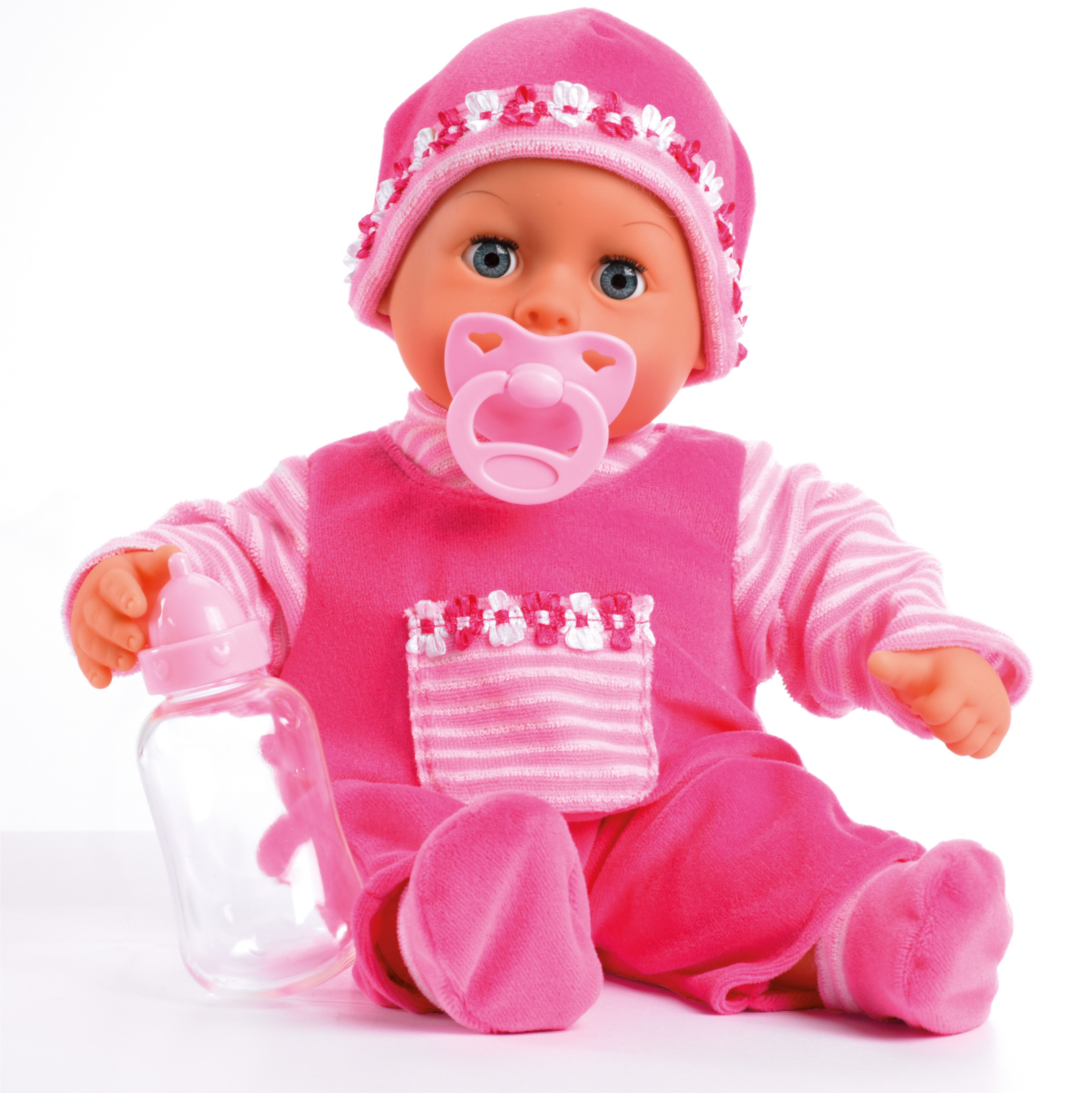 Bayer Design Пупс Малыш  мои первые слова цвет розовый 38 см - Куклы и аксессуары