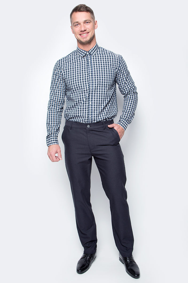 Рубашка мужская Baon, цвет: зеленый. B667501_Wild Ivy Checked. Размер XL (52)B667501_Wild Ivy CheckedПовседневная рубашка от Baon в клетку - элегантный выбор для тех, кто ценит стиль и комфорт. Модель представлена в спокойной цветовой гамме с яркими светлыми акцентами. Рубашка имеет прямой крой и застежку на пуговицы. На груди расположен накладной карман.