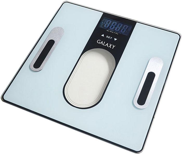 Galaxy GL 4852 весы напольные4650067303024Электронные весы Galaxy GL 4852 разработаны специально для тех, кто следит за своимздоровьем и физическойформой. Встроенный компьютер определяет общий вес человека, соотношение жировой,мышечной, костной ткании уровня жидкости в организме.Специальный дизайн, ультратонкий корпус, большой дисплей, сенсорное управление! В комплекте 2 батарейки типа ААА.