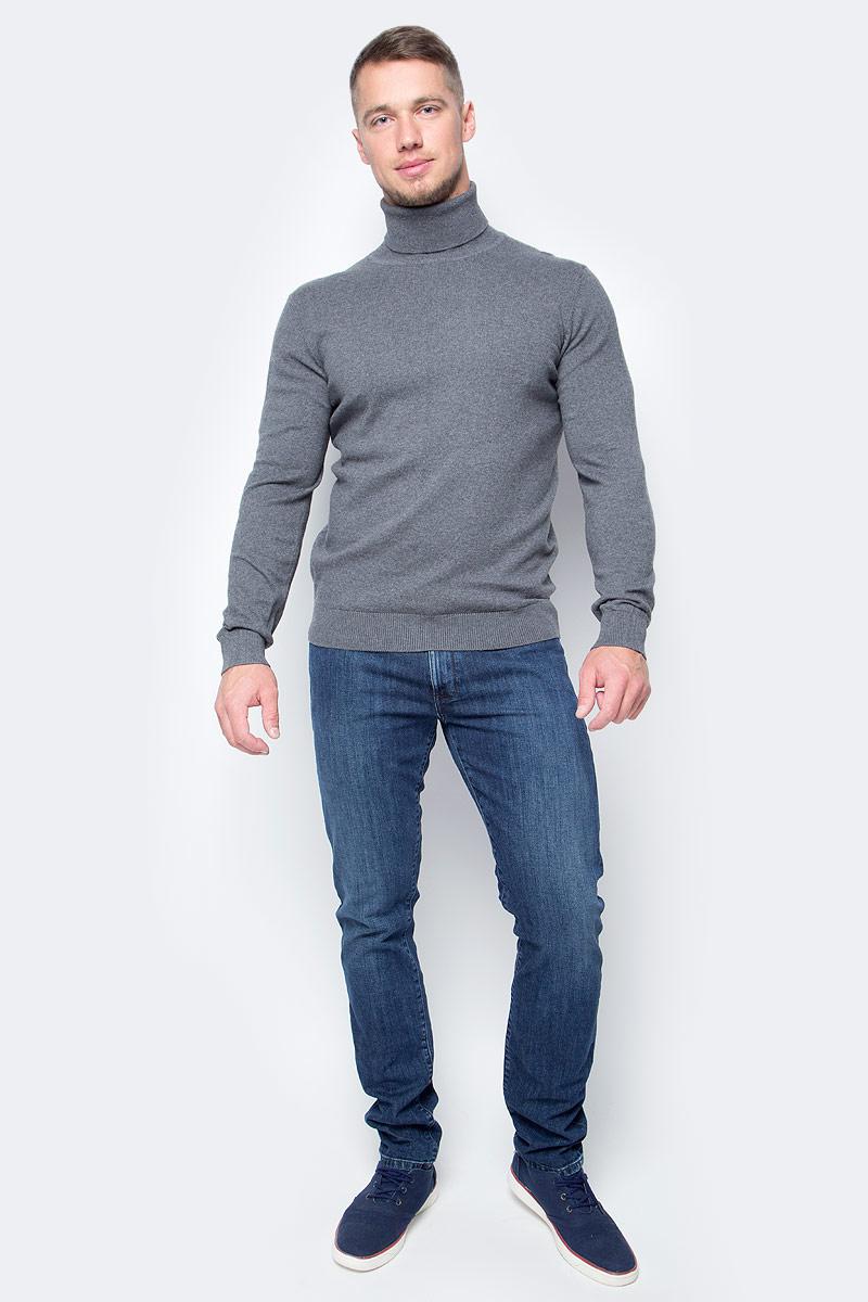 Водолазка мужская Baon, цвет: серый. B727702_Dark Grey Melange. Размер XL (52) водолазка мужская baon цвет синий b727502 baltic blue melange размер xxl 54