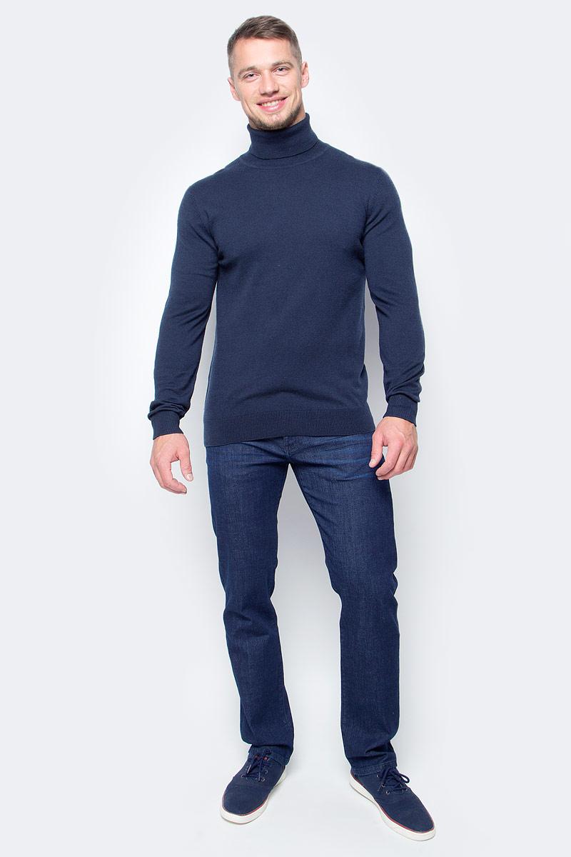 Водолазка мужская Baon, цвет: темно-синий. B727702_Deep Navy. Размер XL (52)B727702_Deep NavyБазовая водолазка от Baon - лаконичная по своему дизайну модель, которая идеально дополнит как повседневные, так и деловые аутфиты. Изделие выполнено из высококачественного хлопкового трикотажа. Этот материал комфортен в ношении и весьма прост в уходе.
