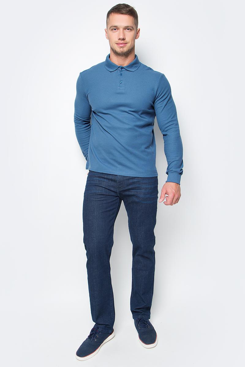 Поло мужское Baon, цвет: голубой. B707701_Thundercloud. Размер XXL (54) поло мужское baon цвет белый b707025