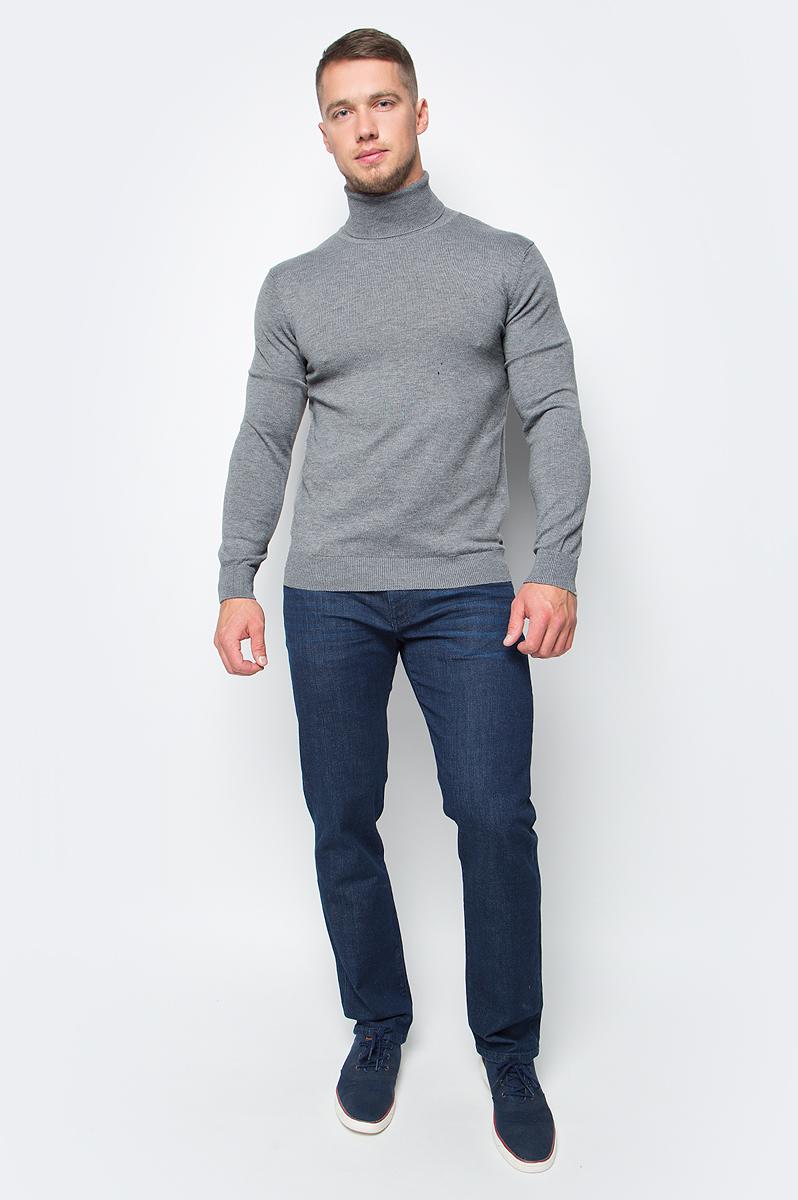 Водолазка мужская Baon, цвет: серый. B727701_Cold Grey Melange. Размер 3XL (56) водолазка мужская baon цвет синий b727502 baltic blue melange размер xxl 54