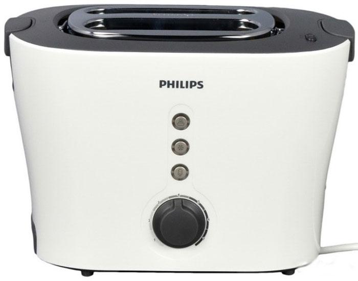 Philips HD2630/50 тостерHD2630/50Тостер Philips HD2630/50 с широкими и глубокими отверстиями и функцией автоматического центрирования для равномерно поджаренных золотистых тостов из толстых и тонких ломтиков. Оснащен подставкой для подогревания булочек, выдвигающимся поддоном для крошек и кнопками подогрева и разморозки. Кнопка разморозки позволяет размораживать и поджаривать хлеб за один прием, а кнопка разогрева подогревает остывший хлеб, или подрумянивает уже поджаренный. Данная модель, сочетающая в себе множество функций с современным дизайном, станет стильным акцентом на вашей кухне.Суперширокие слоты для любых ломтиков, толстых или тонкихПодставка для подогревания булочек и круассановРегулируемая ширина слотов с автоцентрированием для идеального поджариванияСъемный поддон для крошек для простой очисткиСпециальный подъемник позволяет безопасно доставать небольшие ломтики хлебаКнопка отмены позволяет в любой момент остановить приготовление тостов