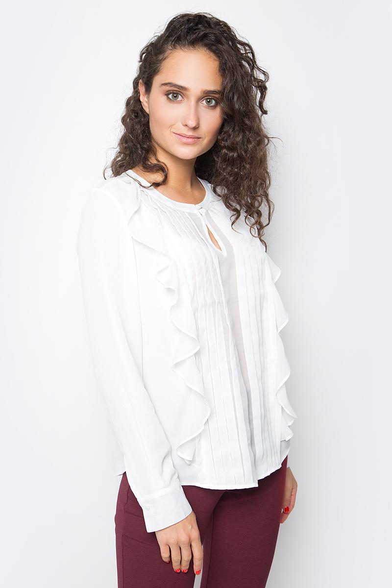 Блузка женская Baon, цвет: белый. B177526_Milk. Размер L (48) блузки mango блузка lace
