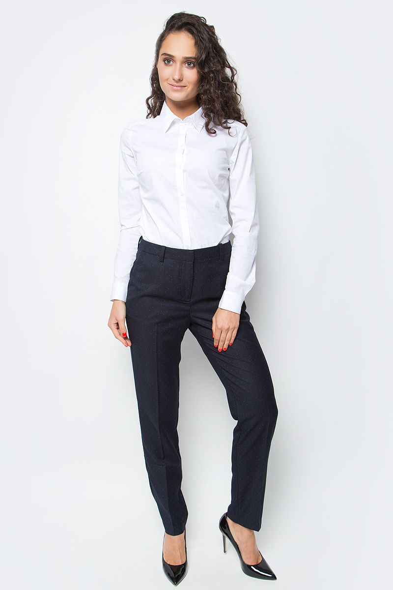 Брюки женские Baon, цвет: синий. B297517_Dark Navy. Размер XL (50) брюки для дома мужские diesel цвет синий 00sj3i 0damk 05 размер xl 50