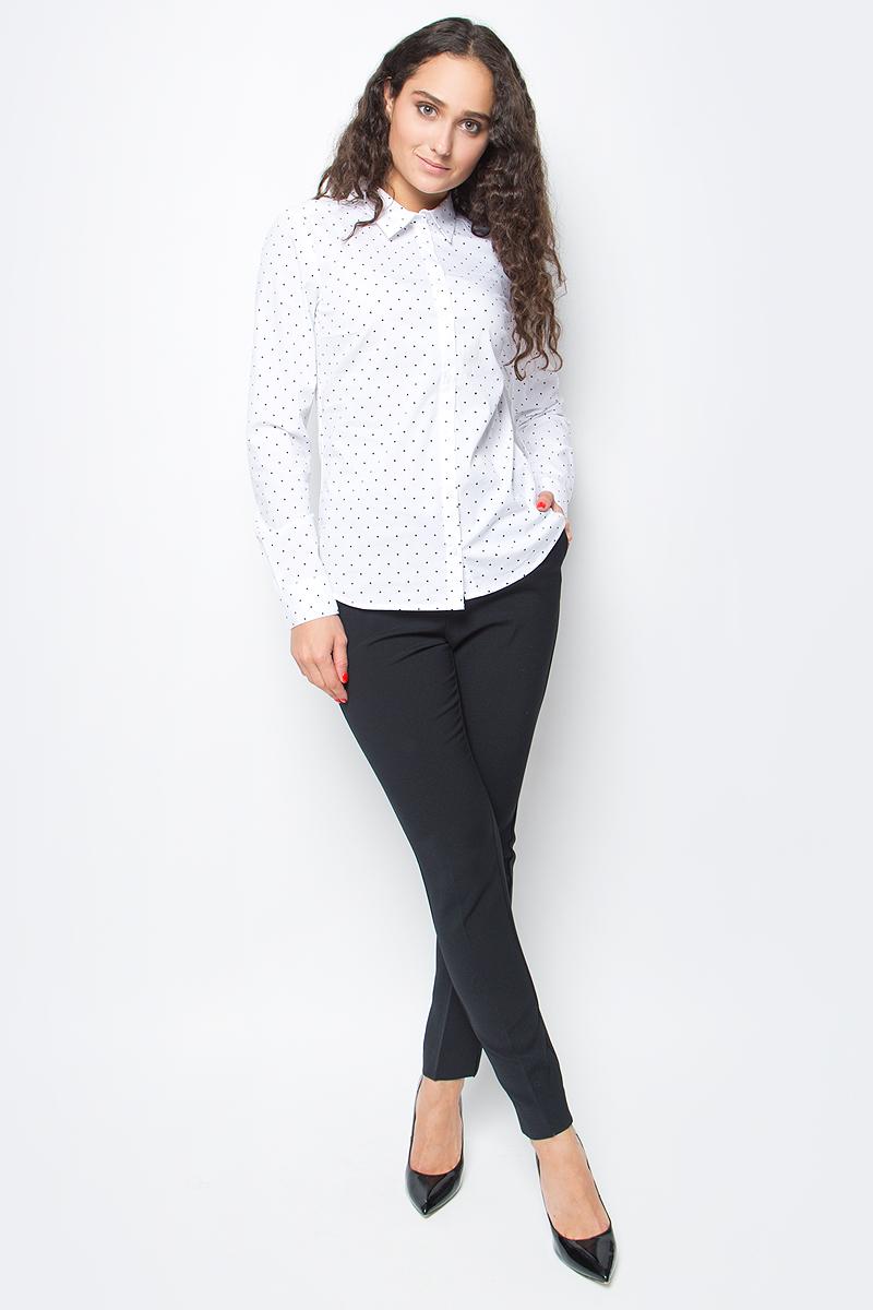 Блузка женская Baon, цвет: белый. B177702_White Printed. Размер XL (50) футболка женская baon цвет белый b237081 white размер xl 50