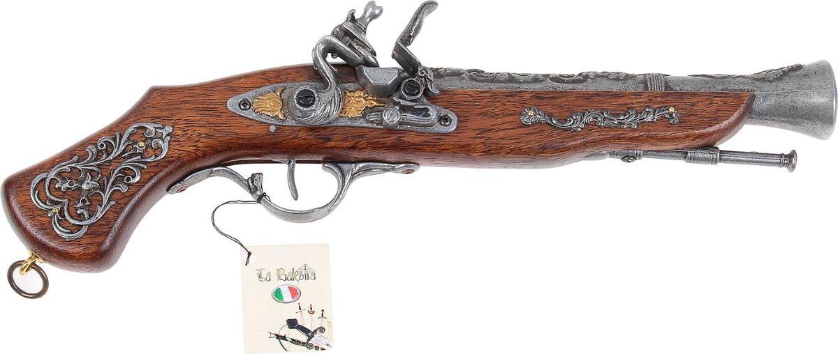 Сувенирное оружие La Balestra Макет пистоля Италия, 39 х 10 х 5 см665954Оружие! Более мужественного подарка придумать сложно. Этот замечательный пистоль в Итальянском стиле идеально впишется в любой интерьер, станет гордостью хозяина и, наверняка, положит начало превосходной коллекции. Обратите внимание, что пистоль продается без подставки. Товар произведен Итальянской фабрикой La Balestra. Все детали и сборка выполнены на этой фабрике вручную под чутким руководством и с участием хозяина фабрики, сеньора Morelli.