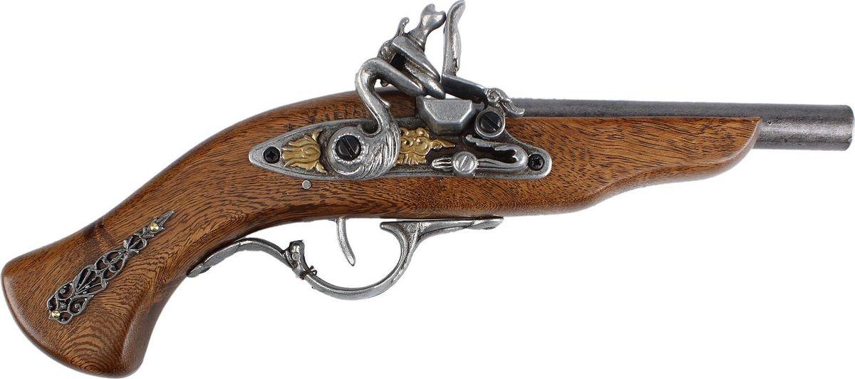 Сувенирное оружие La Balestra Макет пистоля German, 32 х 11 х 5 см665957Сложно представить себе мужчину, которого бы не манило оружие, особенно старинное, наверняка бывшее свидетелем грозных эпохальных событий. Поэтому сувенирная копия такого оружия - беспроигрышный вариант оригинального и стильного подарка. Этот пистоль, созданный под итальянской маркой La Balestra, выполнен с пристальным вниманием к деталям и соблюдением пропорций и размеров своего реального боевого прототипа. Он станет элегантным украшением дома и, возможно, даже положит начало целой коллекции подобных предметов.