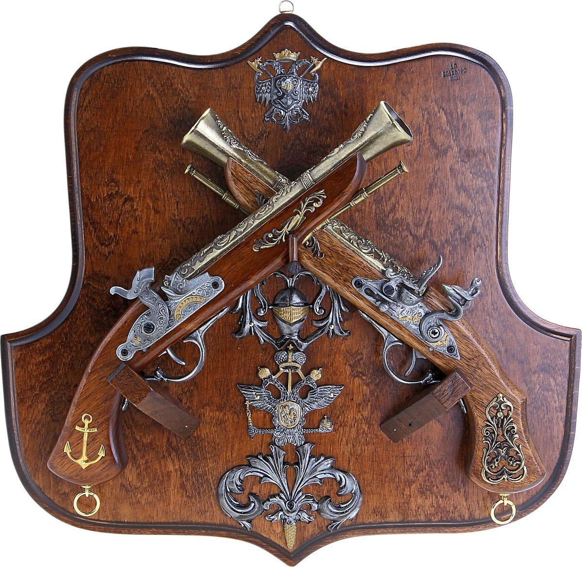 Сувенирное оружие La Balestra Макет 2 пистолей c геральдикой Дуэльные, на планшете, 43 х 41 х 11 см 2 х комфорочную варочную панель