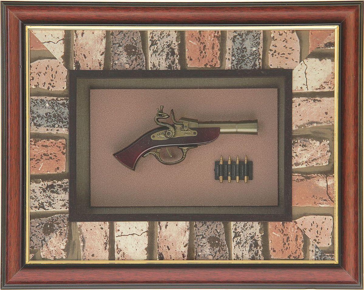 Сувенирное оружие Мушкет с гильзами, в раме, 40 х 50 см