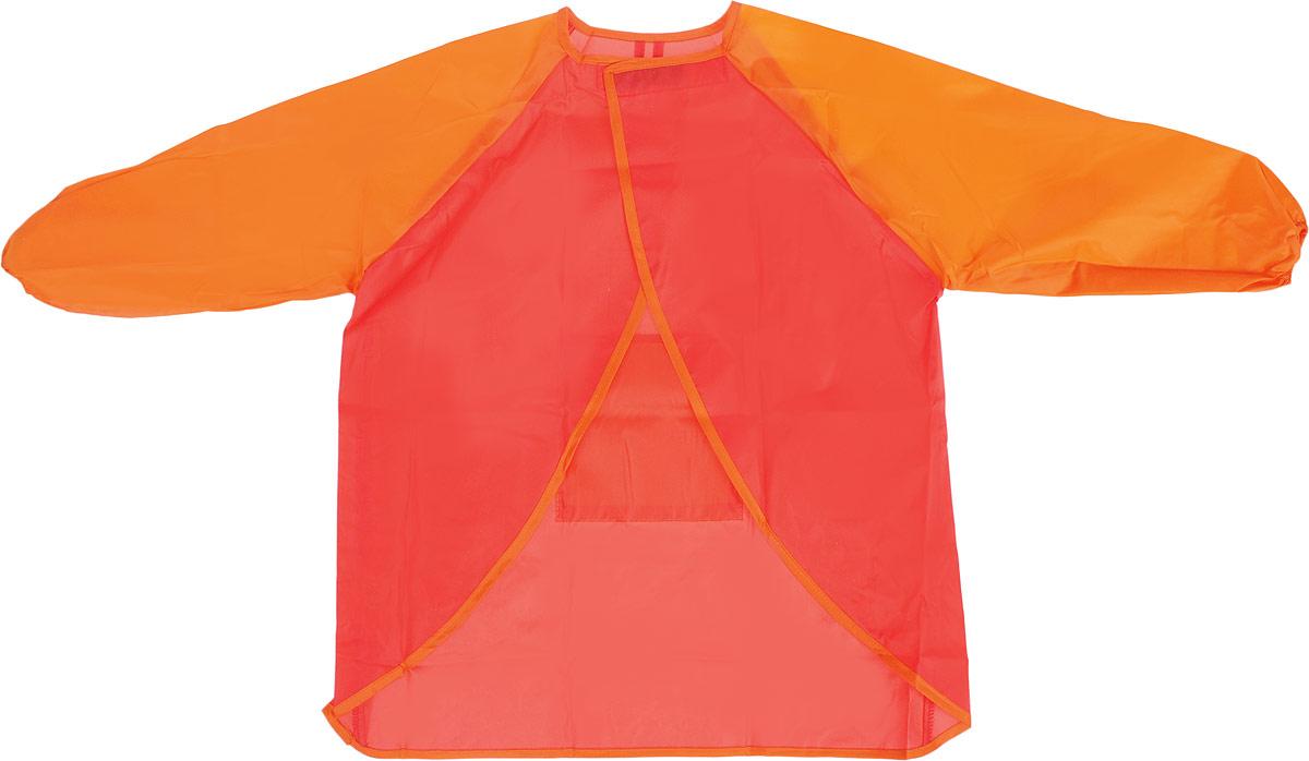 Faber-Castell Фартук детский цвет красный оранжевый201204_красный, оранжевыйФартук Faber-Castell с длинными рукавами идеально подходит для детского творчества в школе и дома. Отличное качество: превосходно защищает одежду от клея, краски и жидкостей. Застегивается сзади на липучку, имеется карман.Фартук рассчитан на детей от 6 до 10 лет.