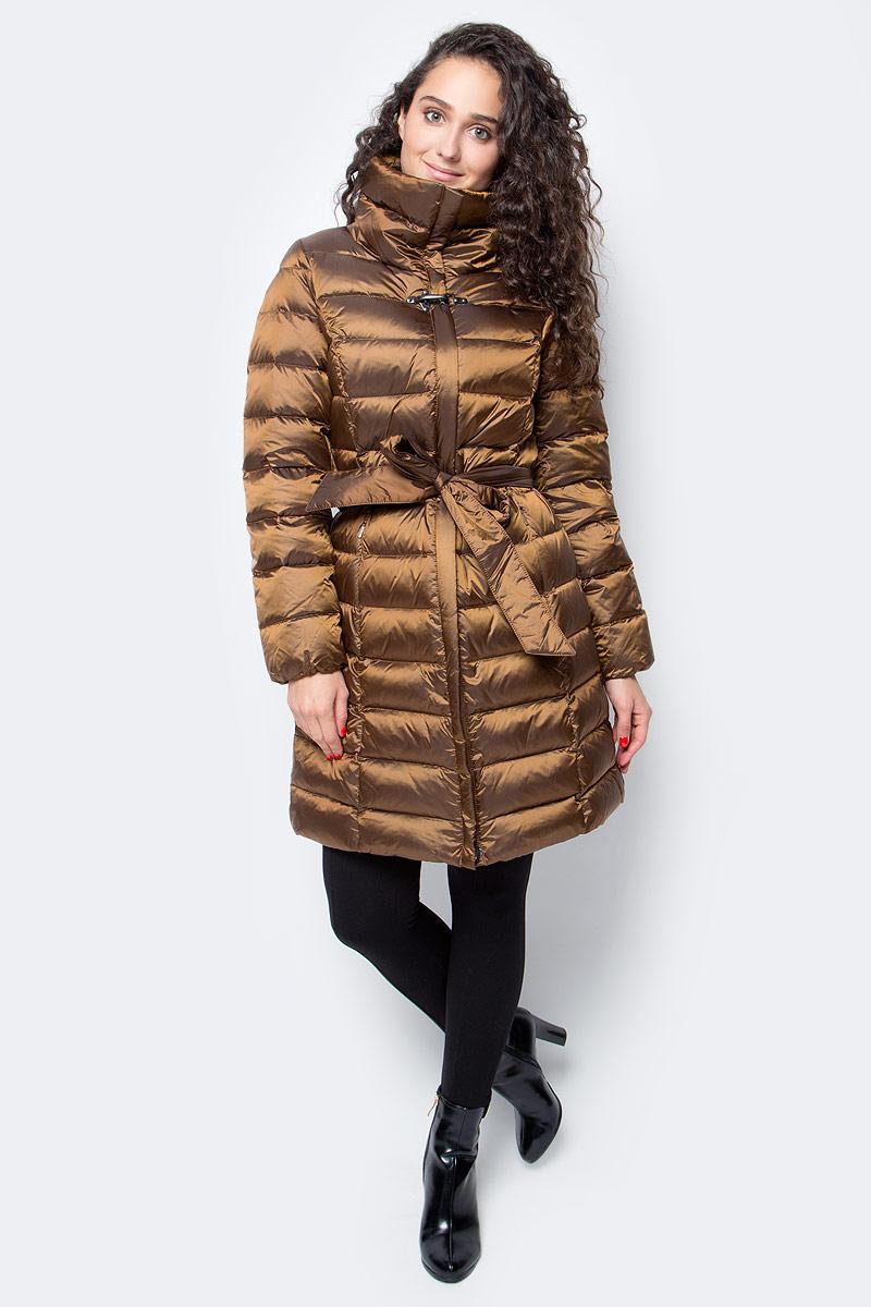 Пуховик женский Baon, цвет: коричневый. B007517_Dark Caramel. Размер L (48)