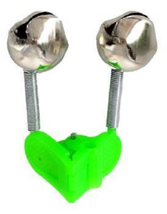 Сигнализатор поклевки AGP Бубенчик, с прищепкой, цвет: серый металлик, зеленый сигнализатор поклевки hoxwell new direction k9 r9 5 1