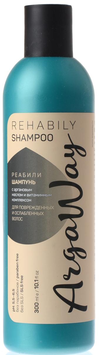 Argaway Реалиби-Шампнуь с аргановым маслом и витаминным комплексом, для поврежденных и ослабленных волос, 300 мл4631111171387Шампунь с аргановым маслом и витаминным комплексом для поврежденных и ослабленных волос. Содержащиеся в аргановом масле антиоксиданты: омега-9 и омега-6 жирные кислоты, сквален, феруловая кислота —защищают кожу головы и волосы от солнечного и термовоздействия, восстанавливают истонченную структуру волос. Витаминный комплекс «BeauPlex VH» (E, B3, B6, B5, C, РР) улучшает энергетический обмен в клетках кожи, способствует активному росту волос.