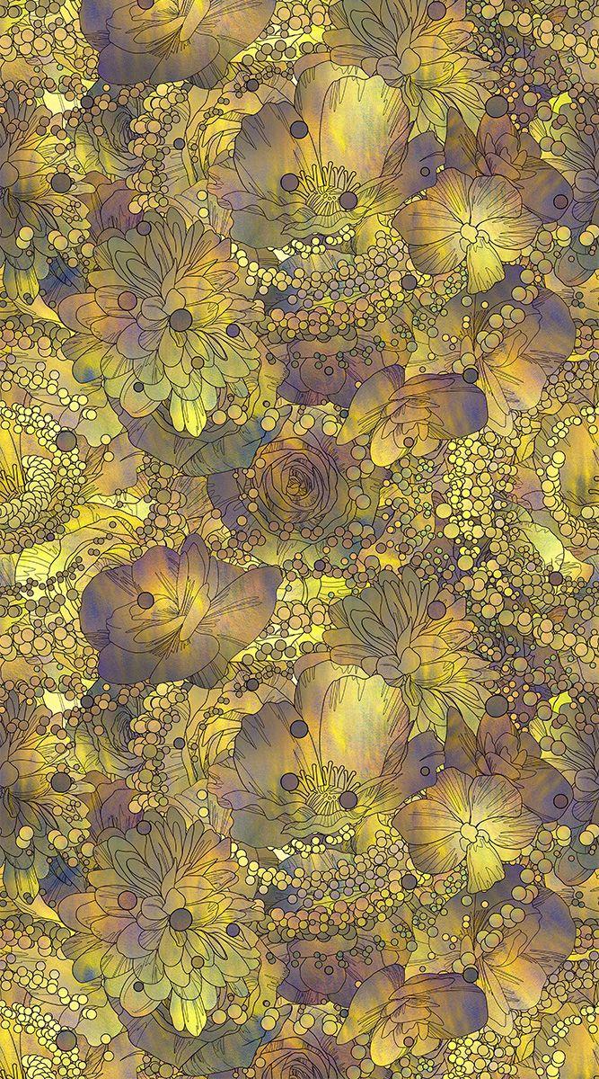 Фотообои антивандальные Antimarker Золото на фиолете, супермоющиеся, 150 х 270 см1-A-1028