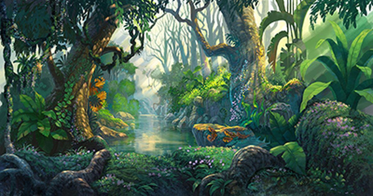 Фотообои антивандальные Antimarker Живописный лес, супермоющиеся, 270 х 150 см2-A-2017