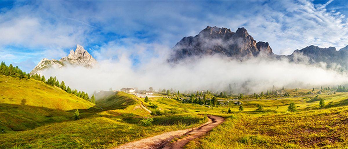 Фотообои антивандальные Antimarker Дорога в горы, супермоющиеся, 350 х 150 см5-A-5006