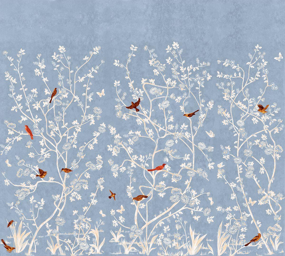 Фотообои антивандальные Antimarker Японская живопись, супермоющиеся, 300 х 270 см6-A-6001