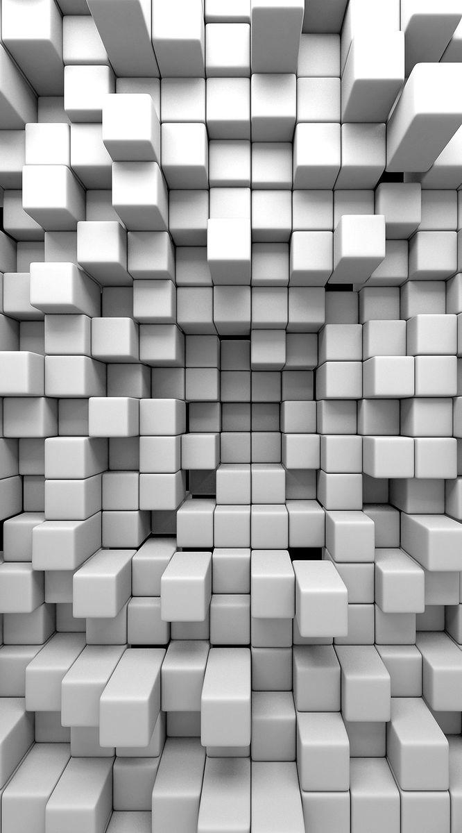 Фотообои антивандальные Antimarker 3D Кубизм, супермоющиеся, 150 х 270 см1-А-1030