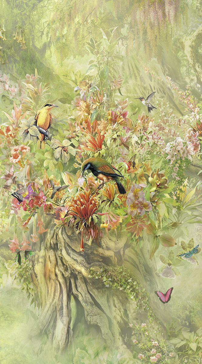 Фотообои антивандальные Antimarker Райская птичка, супермоющиеся, 150 х 270 см1-A 1002