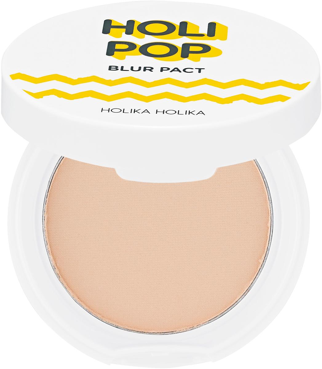 Holika Holika ПудрапрессованнаяHolipopBlur,тон02,бежевый,10,5г база под макияж holika holika holipop blur cream 30 мл