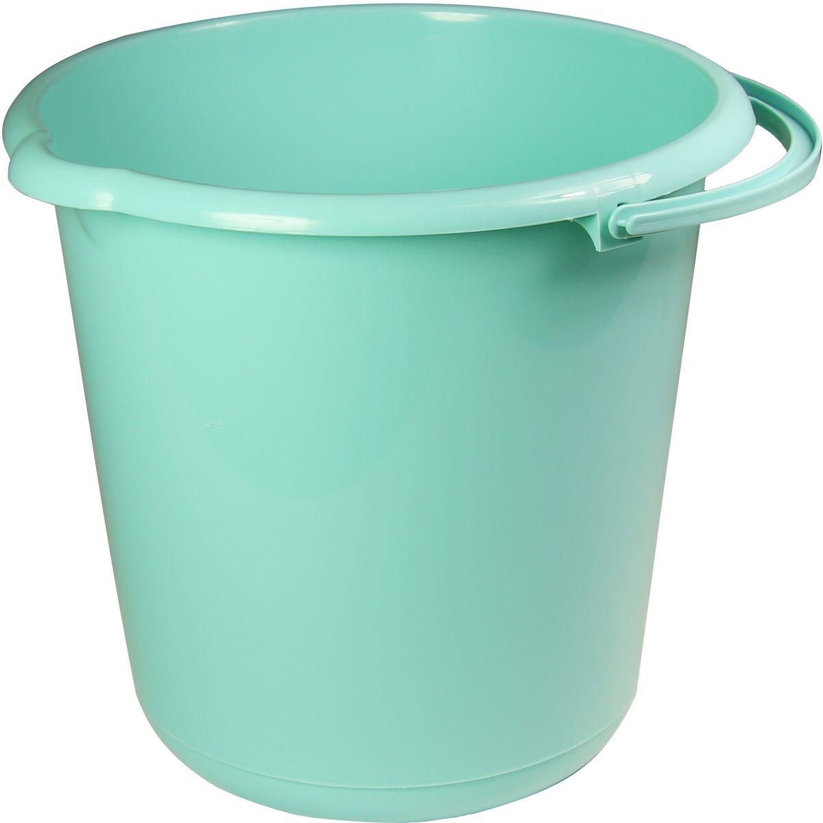 Ведро Idea, цвет: аквамарин, 10 лМ 2430Удобная ручка. Носик и углубление на дне для удобства слива воды. Нейтральные цвета. Качественное изделие по выгодной цене.