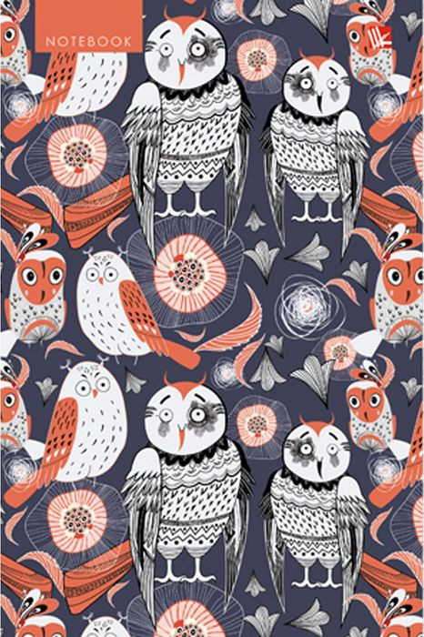 Канц-Эксмо Блокнот Графика Лесные птицы 120 листов в клетку формат А5 блокнот серия natural формат а5 140 стр темно бордовый в клетку