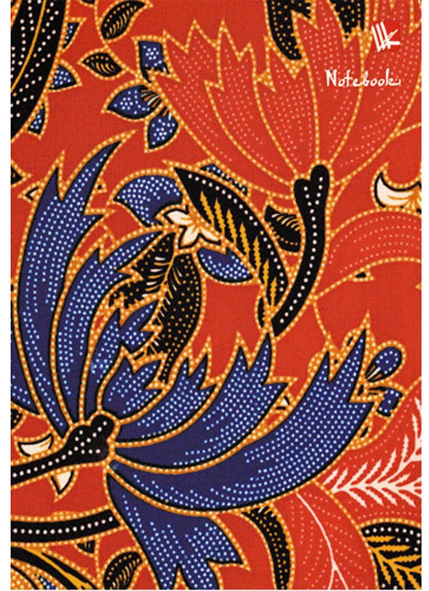 Канц-Эксмо Блокнот Орнамент Цветочная вышивка 80 листов блокнот для записей море полоска а6